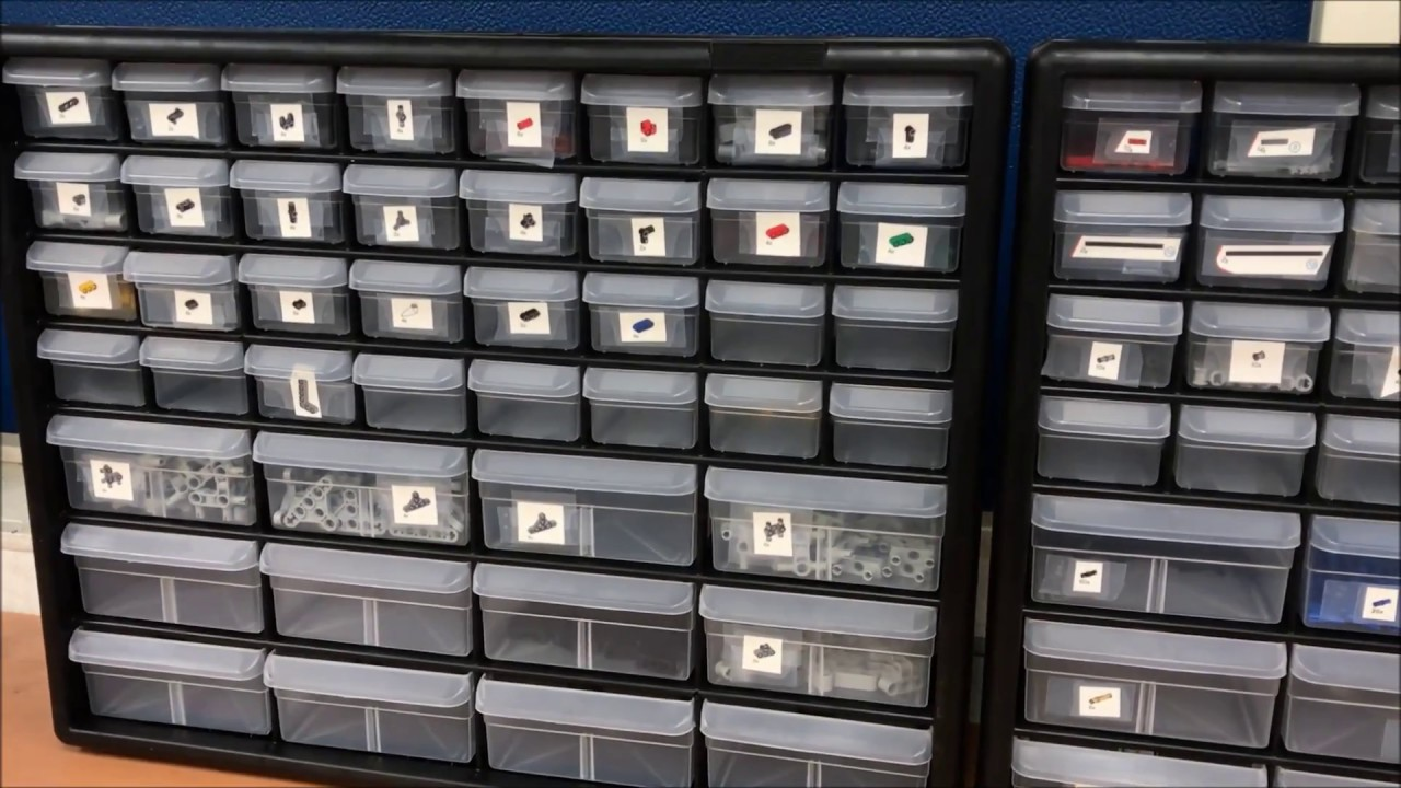 Organizing Cabinets For Lego Ev3 Mindstorms Kit Robotics Classroom
