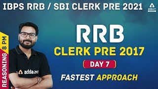 IBPS RRB/SBI Clerk 2021 | Reasoning #7 | RRB PO Pre Previous Year Question Paper 2017