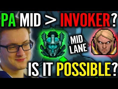 PA mid is NO JOKE vs Invoker is 100% Effective Proved by MIRACLE Game Dota 2