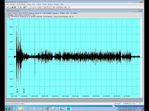 Earthquake M7.2 Iran-Iraq border on 12November2017 recorded with my 10$ seismometer