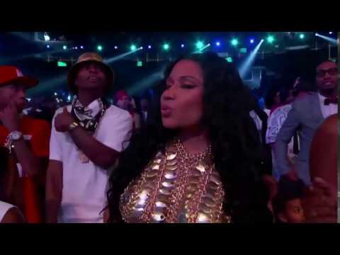 """Nicki Minaj is dancing to """"Fancy"""" by Iggy Azalea."""