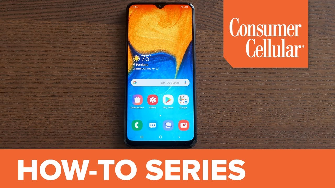 samsung galaxy a20 home screen overview 2 of 16 consumer cellular