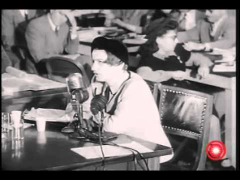 Ayn Rand at the HUAC hearings
