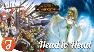 [Modded] #01 Allarielle Vs The Dogs Of War Head2Head Campaign | Total War: Warhammer II