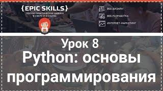 Python: основы программирования. Урок 8