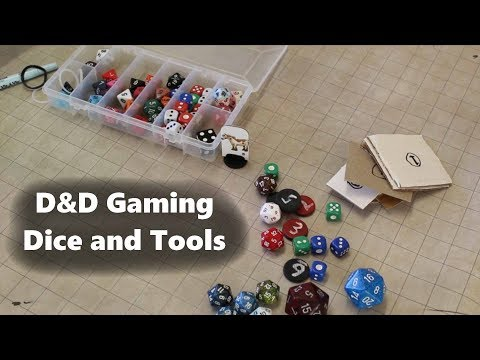 For my D&D game, what dice, mat, and accessories do I use?