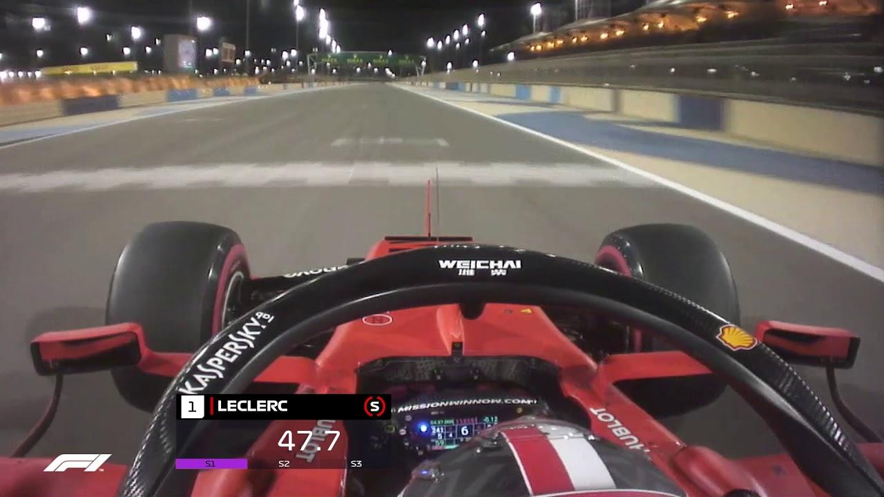 2019 Bahrain Grand Prix: Charles Leclerc's Onboard Pole Lap   Pirelli