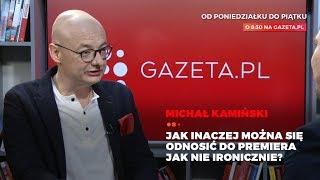 Kamiński po słowach Morawieckiego: Jak mam nie ironizować?