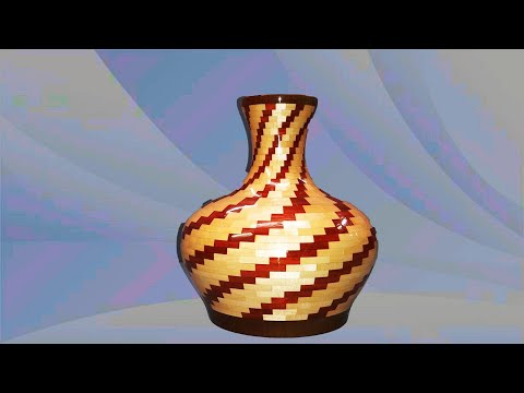 Wood Turning A Segmented Decanter or Vase With A Twist
