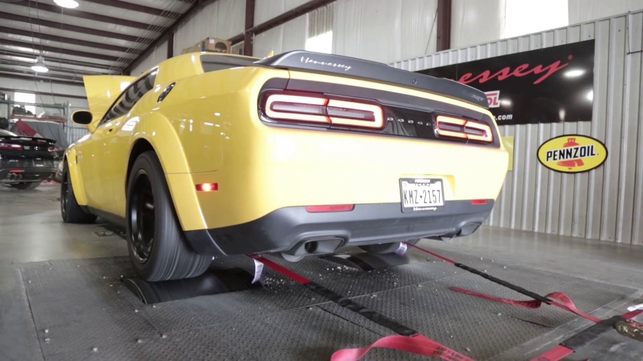 Hennessey Dodge Demon Runs a 9 14-Second 1/4-Mile