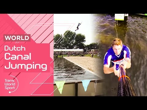 Canal Jumping  | 2016 Fierljeppen Dutch Championships on Trans World Sport