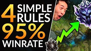 THE 4 PROVEN RULES for a 95% WINRATE - FASTEST Diamond Rank | League of Legends Pro Guide