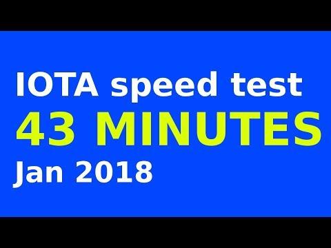 IOTA transaction speed test - 43 minutes - January 2018
