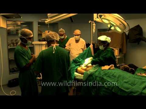 Surgeons preparing for Fibrocystic breast surgery!