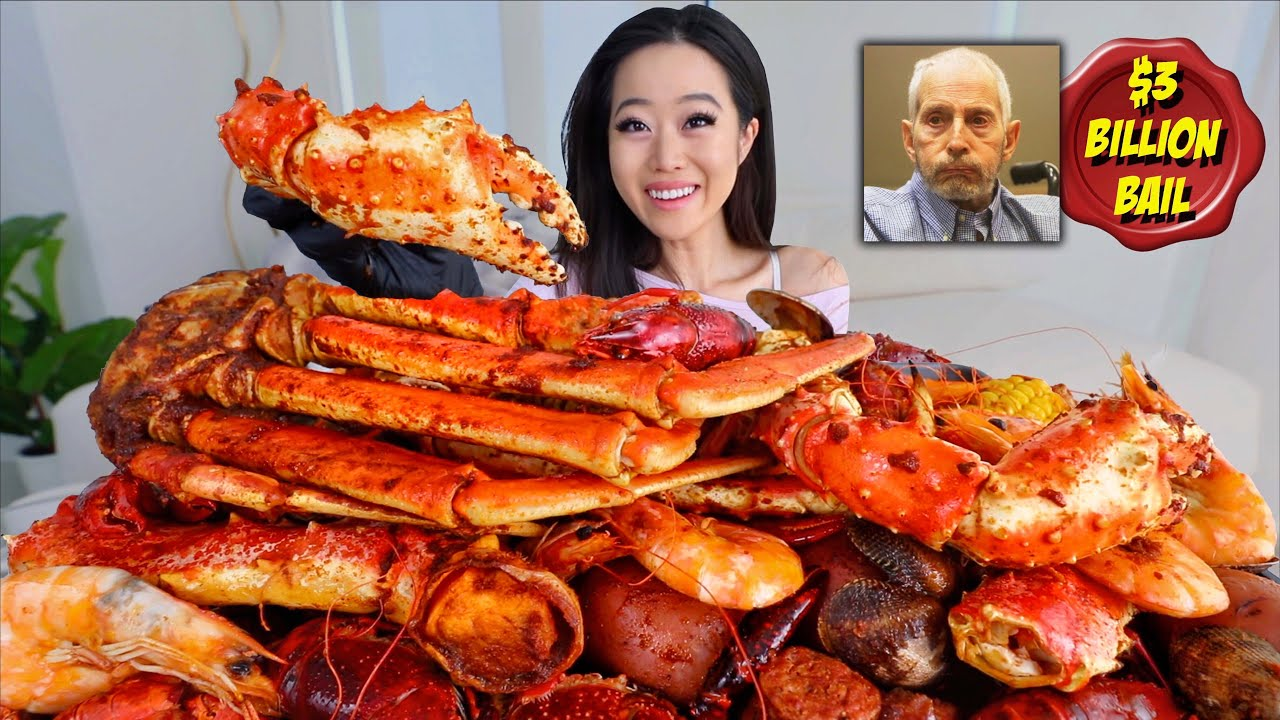 MOST POPULAR SEAFOOD BOIL (King Crab Legs, Snow Crab, Crawfish, Shrimp)  MUKBANG | Eating Show