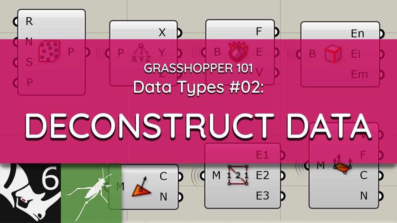 Grasshopper 101: Data Types   #02 Deconstruct Data
