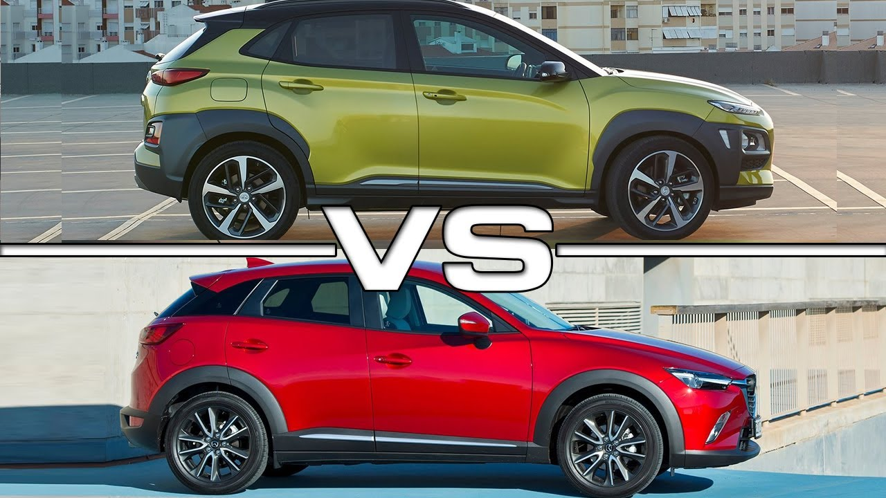 2018 Hyundai Kona Vs 2017 Mazda Cx 3 Youtube