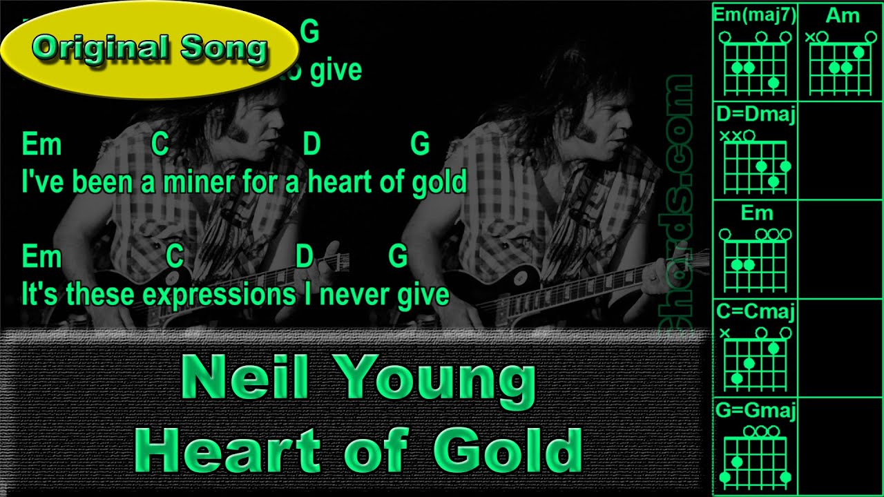 how to play neil young heart of gold on guitar