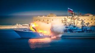 Неудачный пуск ракеты на параде в Севастополе с эпичной музыкой