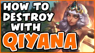 How to DESTROY LANE as QIYANA MID | Challenger Qiyana - League of Legends