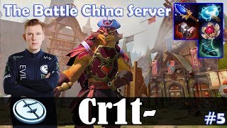 Crit - Pangolier Offlane | The Battle China Server | Dota 2 Pro MMR Gameplay #5