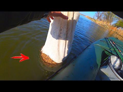 ЗАКИНУЛ ПОЛ МЕШКА ПРИКОРМКИ И ВОТ ЧТО НАЧАЛОСЬ!!! рыбалка на удочку