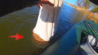 ЗАКИНУЛ ПОЛ МЕШКА ПРИКОРМКИ И ВОТ ЧТО НАЧАЛОСЬ рыбалка на удочку