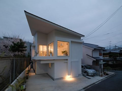 Modern Home Design with Simple, Clean and Spacious Concept in Kyoto