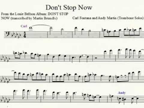 Carl Fontana Duet With Andy Martin Jazz Trombone Transcription Louis Bellson