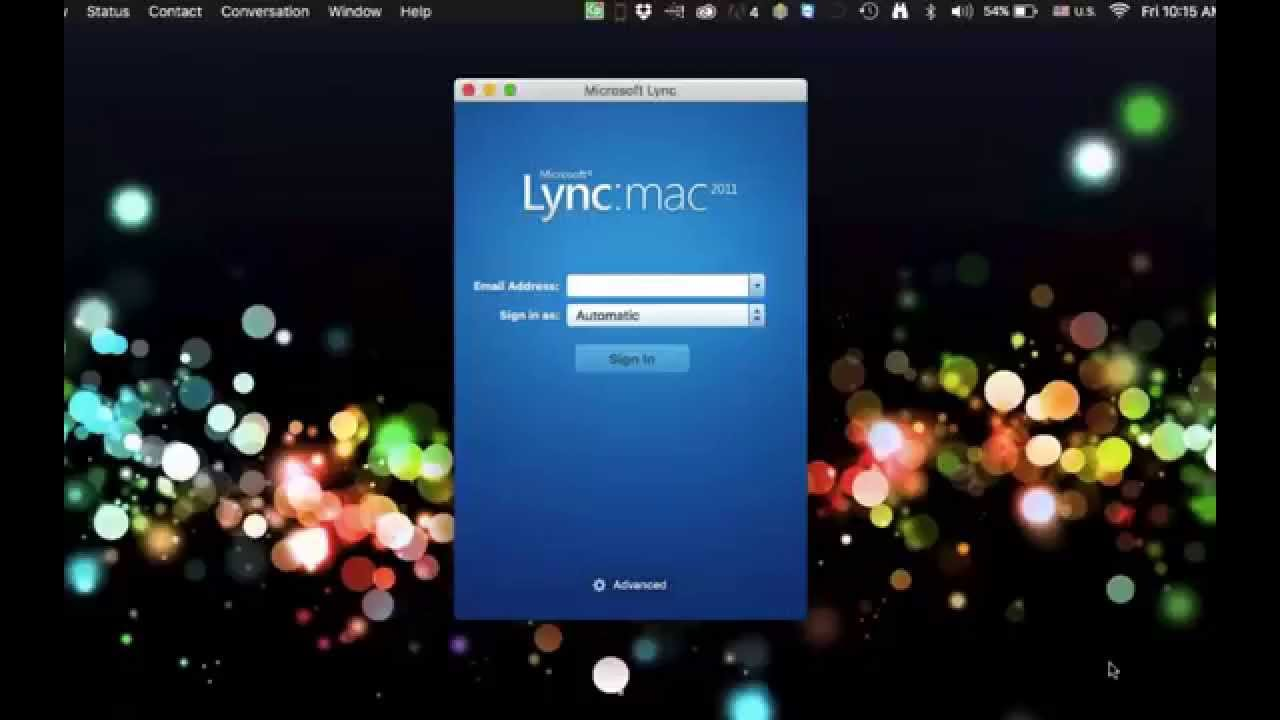 How to get Microsoft Lync for Mac OS X working in El Captain