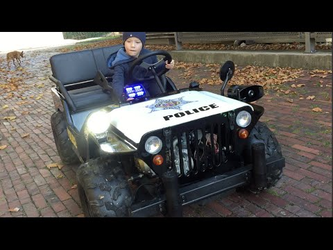 Little Heroes Children Motor JEEP POLICE! Driven by Jack ...