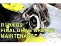 Bmw R1200gs Final Drive Boot Grease Service Maintenance Asmr