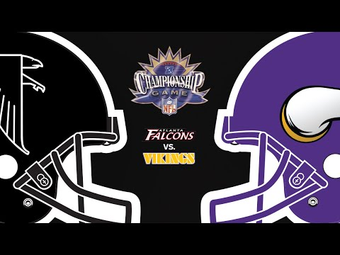 Atlanta Falcons Vs. Minnesota Vikings 1998 NFC Championship Full Game