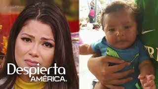 Ana Patricia llora al ver a los bebés que viajan en caravana migrante