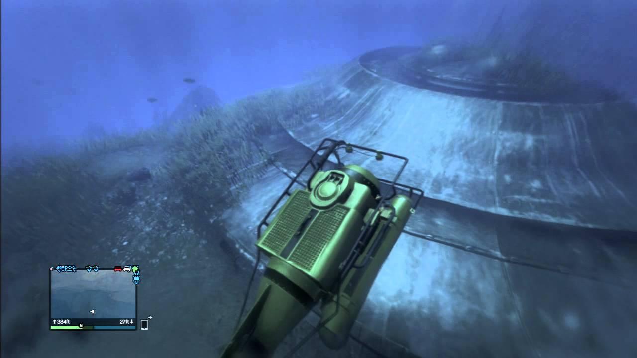 GTA 5 Easter Eggs - Underwater UFO location
