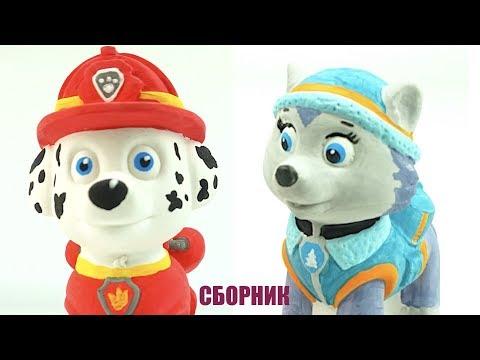 Учим цвета Сюрпризы и Игрушки Щенячий патруль Видео для