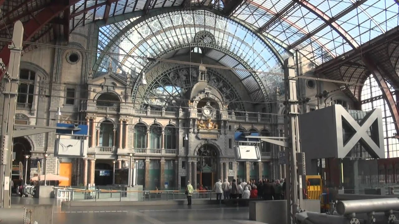 Antwerpen central station belgium youtube for Design hotel antwerpen