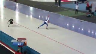 Конькобежный спорт / Чемпионат мира по спринтерскому многоборью 2016. Корея 500 м.мужчины 2 день