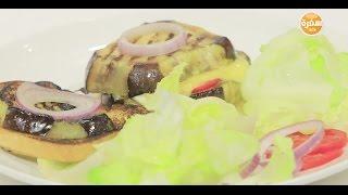 ساندوتش باذنجان مشوي بالجبنة   عماد الخشت