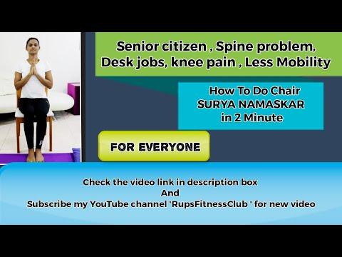 chair sunsalutationyoga for senior citizen backpain