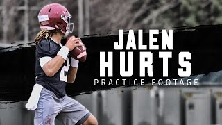 Watch Alabama freshman QB Jalen Hurts in practice