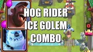 hog rider and ice golem cycle deck strategy