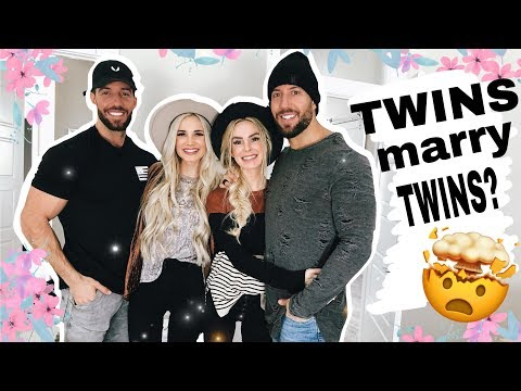 Twins married twins?  Then had triplets  Gemma and Jade Mukbang  SNOW DAY