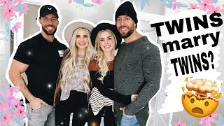 Twins married twins?! | Then had triplets | Gemma and Jade Mukbang | SNOW DAY!