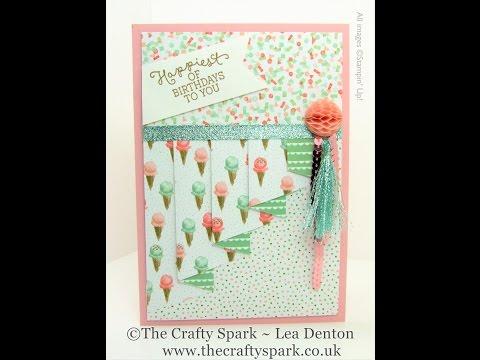 Drapery Pleat Fold Card Birthday Bouquet Stampin' Up! UK