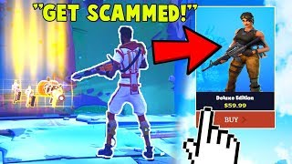 Buying a Fortnite Scammer DELUXE EDITION after he scammed me... (Fortnite Save The World)