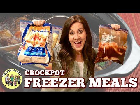 EASY CROCKPOT FREEZER MEALS | PREP & COOK WITH ME COLLAB  | PHILLIPS FamBam Freezer Meals