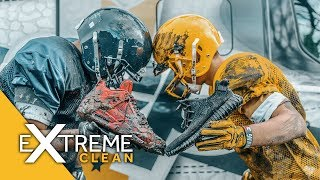 Filthy Yeezy Pirate Blacks cleaned at Superbowl Half Time! - Extreme Clean Crep Protect
