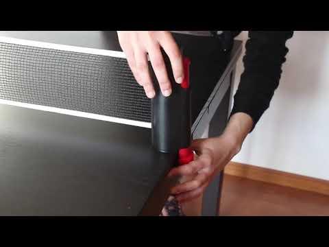 Portable Retractable Telescopic Table Tennis Net Rack Ping Pong Kit TOP Black