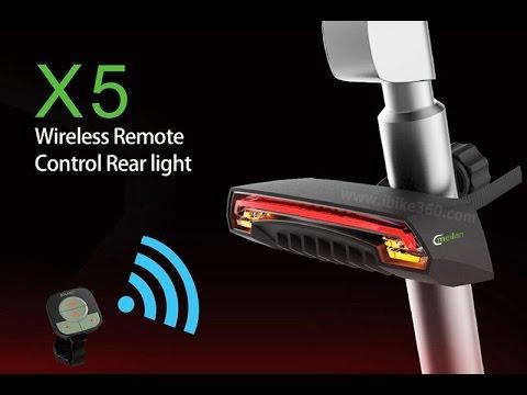 Bicycle Bike Rear Tail Light Laser LED Indicator Turn Signal USB Remote Control